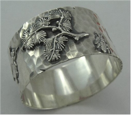 SHIEBLER Sterling Silver HAND-HAMMERED NAPKIN RING