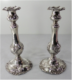 FRANCIS I Sterling CANDLESTICKS #570A