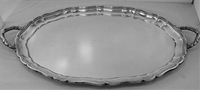 "GORHAM STERLING SILVER VERY LARGE TEA TRAY No. 207, 24 1/2"", MONO"