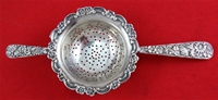 Kirk REPOUSSE Sterling Silver 2-HANDLE TEA STRAINER