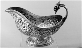 Tiffany Repousse Gravy Boat with Ram's head
