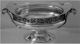 Art Nouveau Sterling Silver Oval Candy Bowl