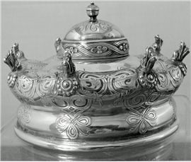 TIFFANY INK WELL IN THE FORM OF RUSSIAN CROWN