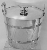 Tiffany Sterling Silver Single Ice Bucket with Handles, Cover and Insert No Mono