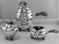 BLOSSOM by Georg Jensen Sterling Silver 3-PC Coffee Set, No Mono