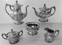 FRANCIS I by Reed and Barton Sterling Silver 5-PC TEA and COFFEE SET, Mono.