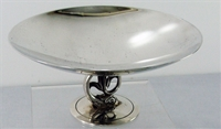 SMALL COMPOTE WITH DOLPHIN & TULIP FLOWER PEDESTAL