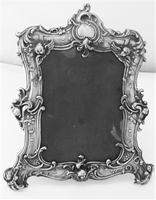 Gorham Picture Frame Sterling Silver Ornate Cherubs, wings & leaf 322-1