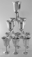Water Goblets by Wallace Sterling Silver No.14, No Mono