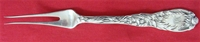 "FRUIT FORK, 2-Tine, All sterling, 6"" Mono"