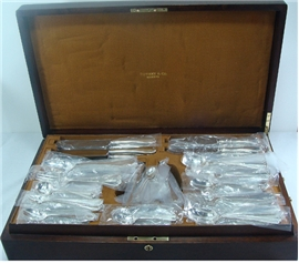 TIFFANY FLEMISH Sterling Silver Flatware Set 12x14 in a Fitted Tiffany Box