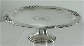 "TIFFANY 'ART DECO'  PEDESTALLED 8 1/2"" COMPOTE"