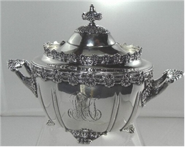 Tiffany ENGLISH KING  COVERED SUGAR BOWL
