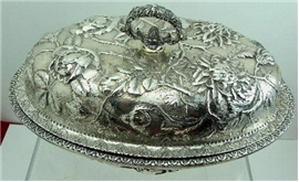 Kirk REPOUSSE Sterling Silver COVERED VEGETABLE DISH