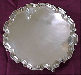 TIFFANY FOOTED SALVER