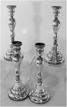 4  BUCCELLATI EMPIRE CANDLESTICKS