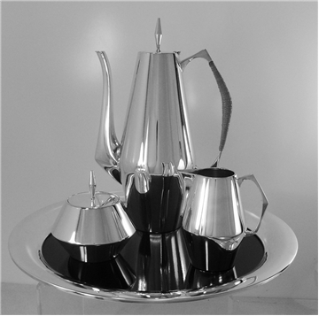 Diamond Teaset with tray by Reed and Barton