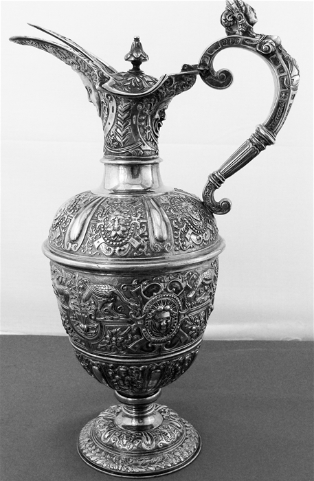 ENGLISH STERLING SILVER CLARET JUG